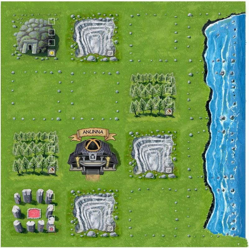 Shifting Realms game board
