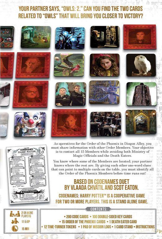 Codenames: Harry Potter back of the box
