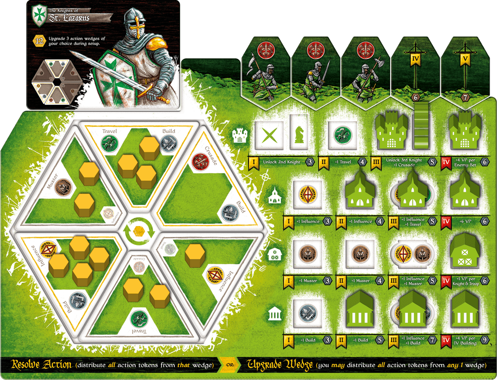Crusaders: Thy Will Be Done game board