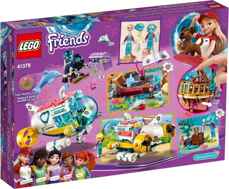 LEGO® Friends Dolphins Rescue Action back of the box