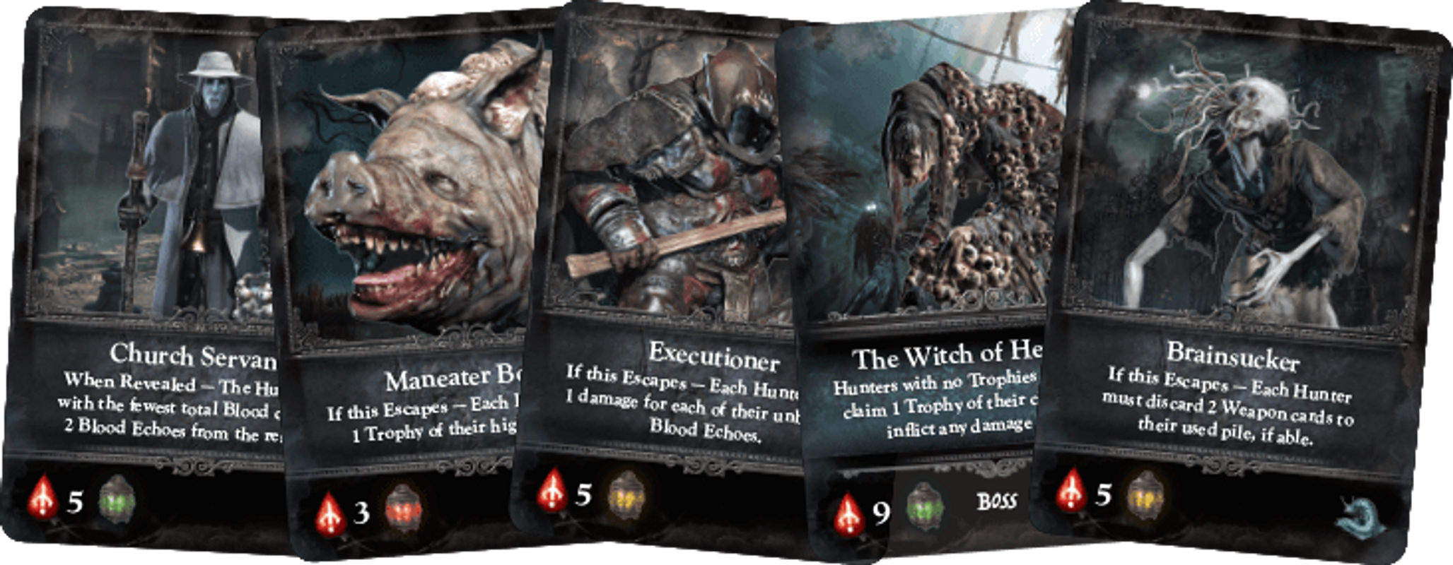 Bloodborne: The Card Game cards