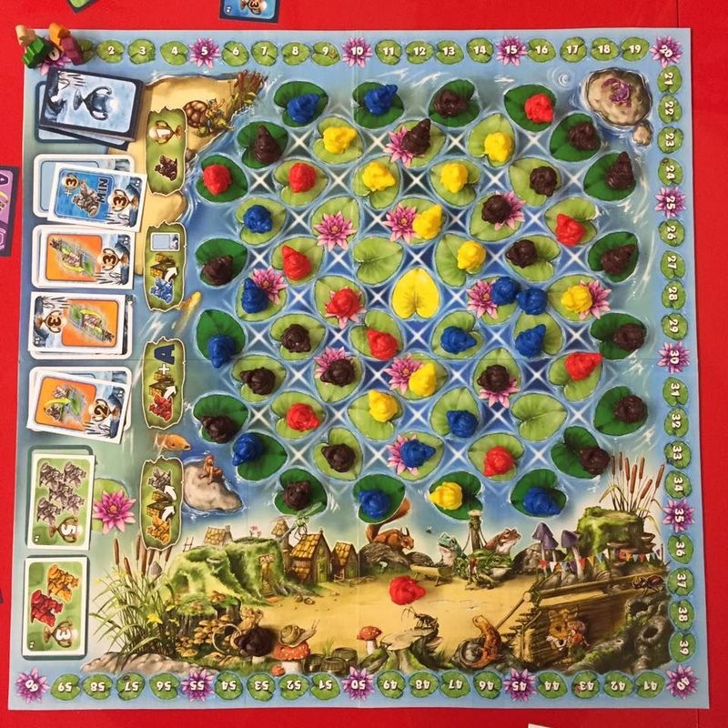 Frogriders game board