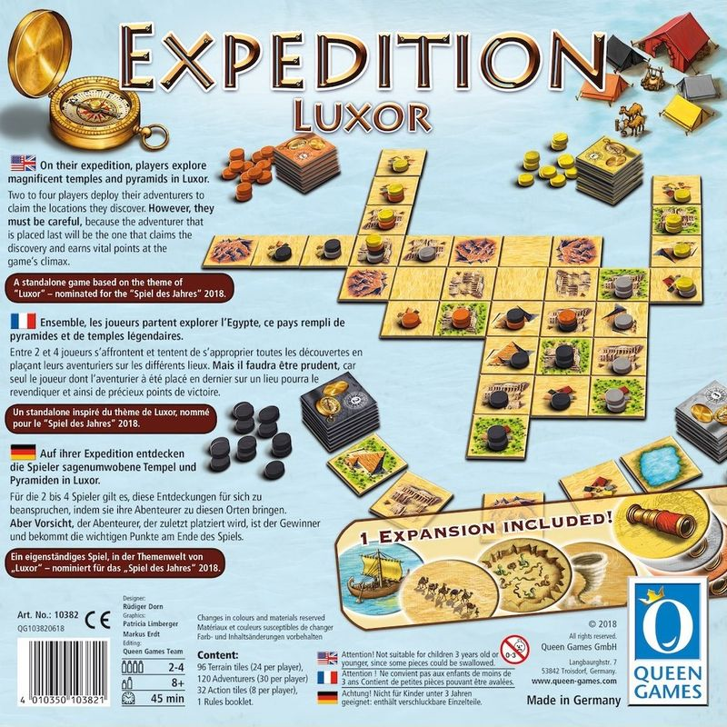 Expedition Luxor back of the box
