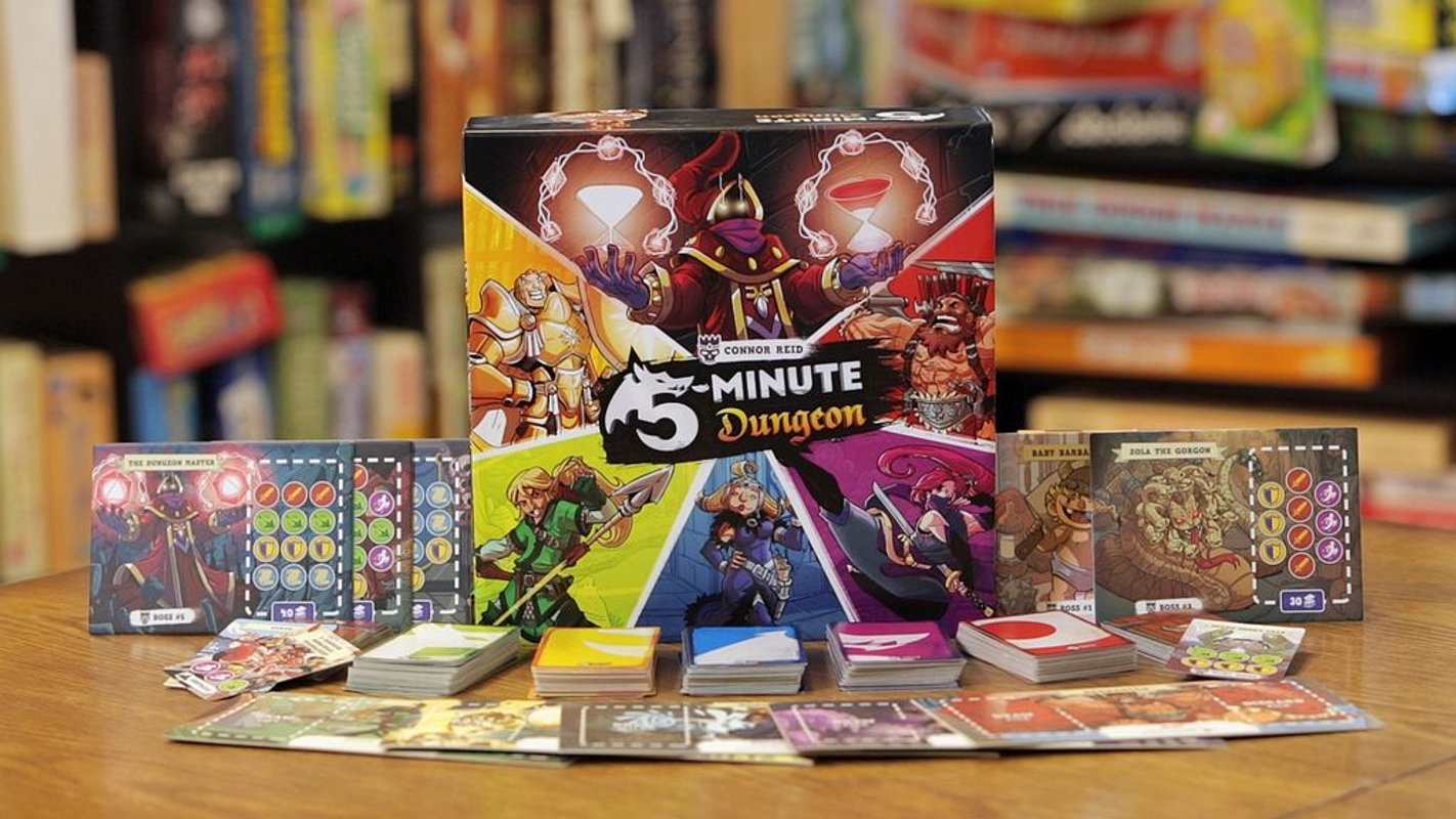 5-Minute Dungeon components