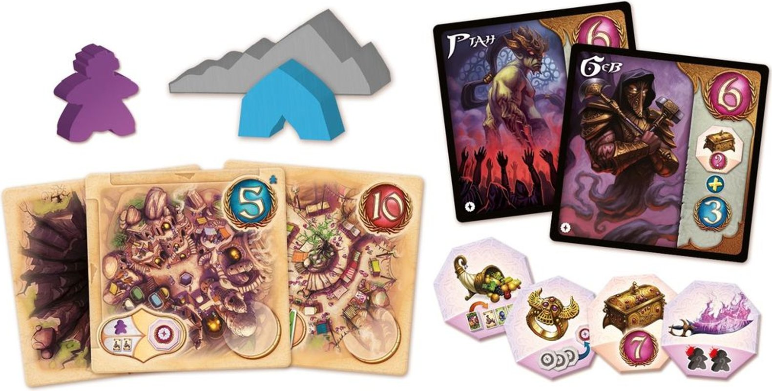 Five Tribes: The Artisans of Naqala components