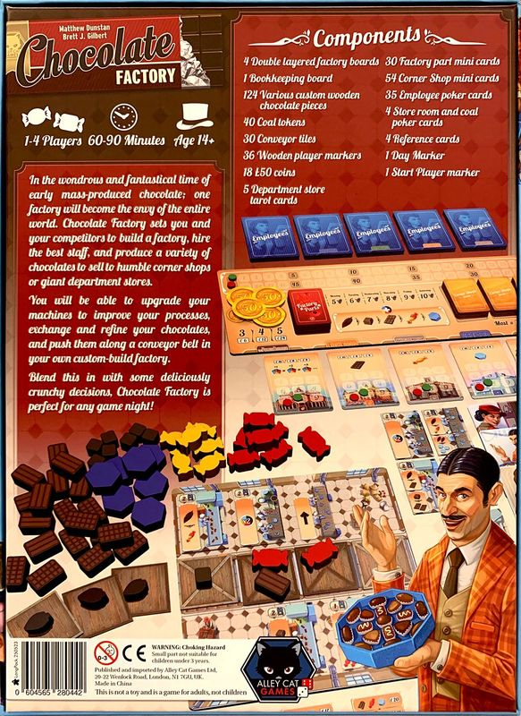 Chocolate Factory back of the box