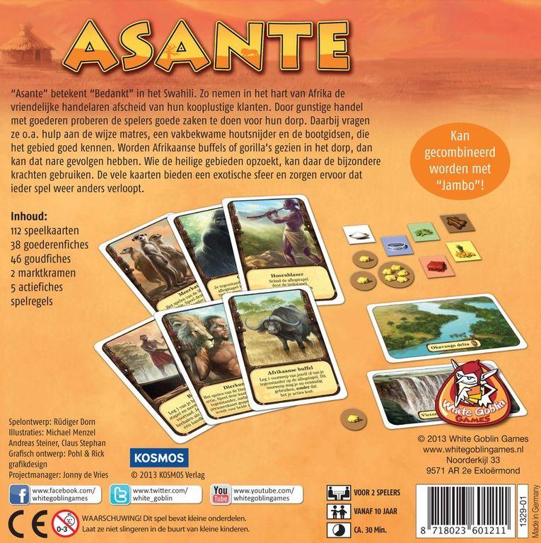 Asante back of the box