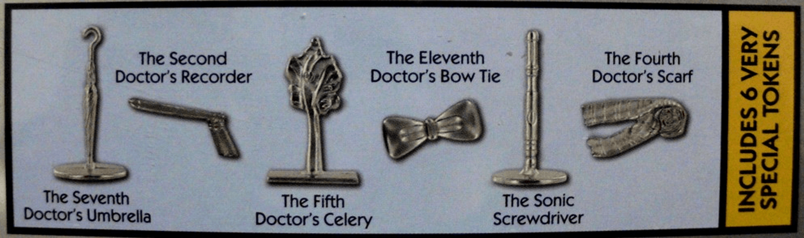 Doctor Who Monopoly 50th Anniversary Collectors Edition components