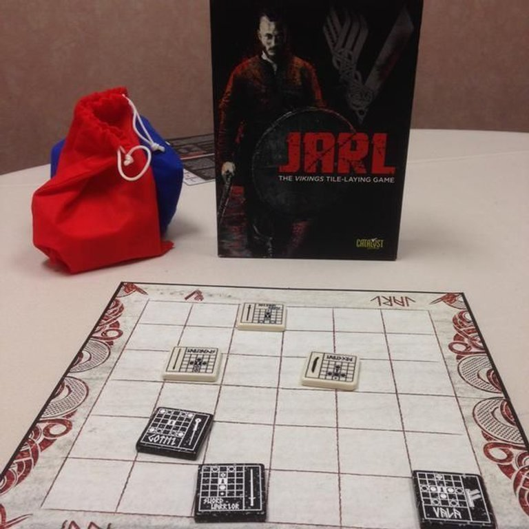 Jarl: The Vikings Tile-Laying Game components