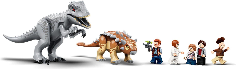 Indominus Rex vs. Ankylosaurus minifigures