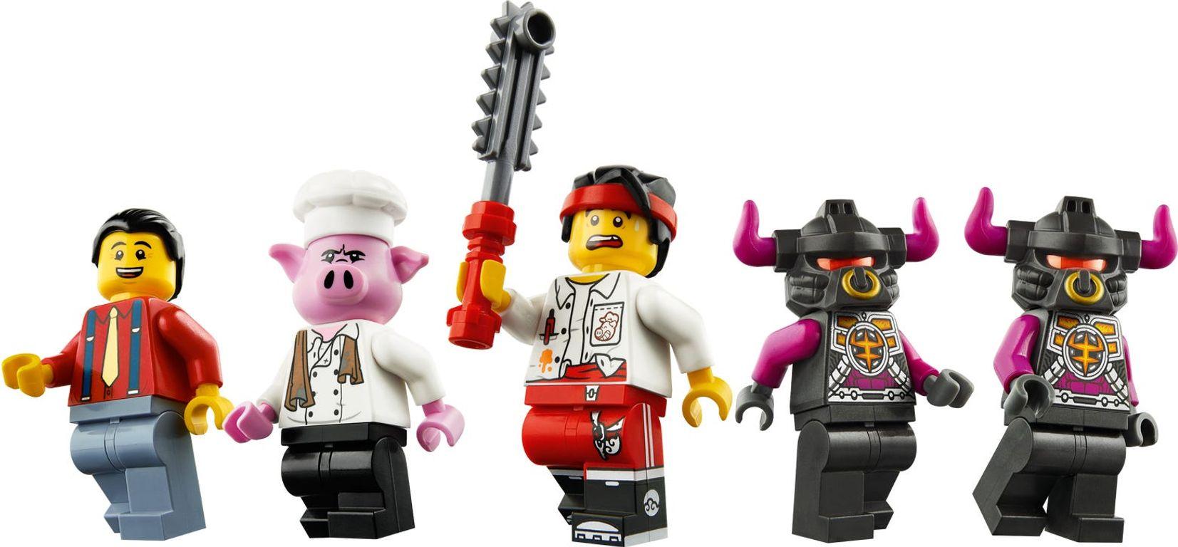 LEGO® Monkie Kid Pigsy's Food Truck minifigures