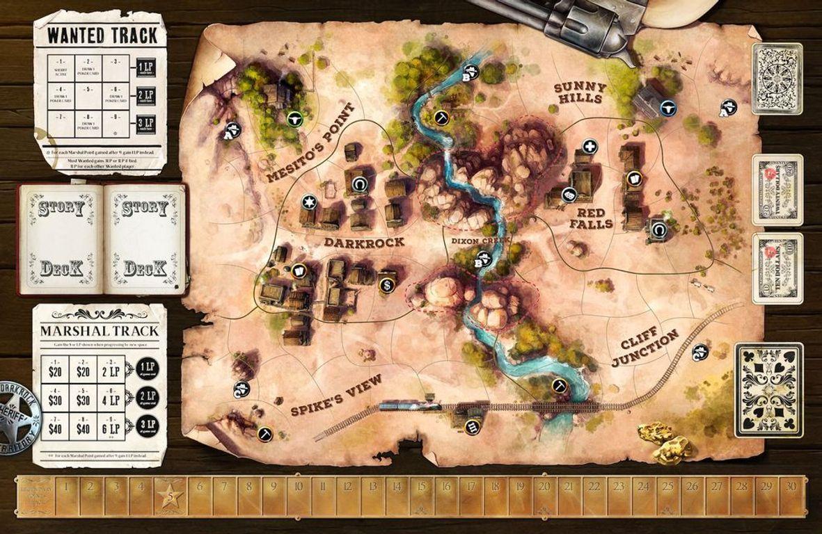 Western Legends game board