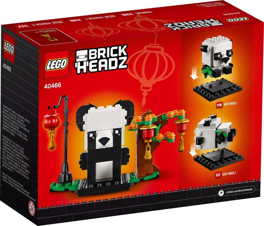 LEGO® BrickHeadz™ Chinese New Year Pandas back of the box