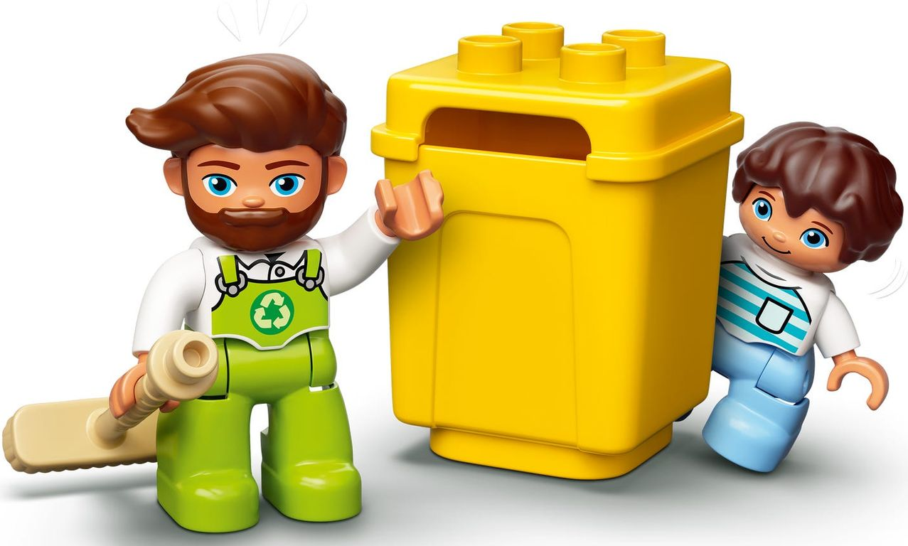 LEGO® DUPLO® Garbage Truck and Recycling minifigures