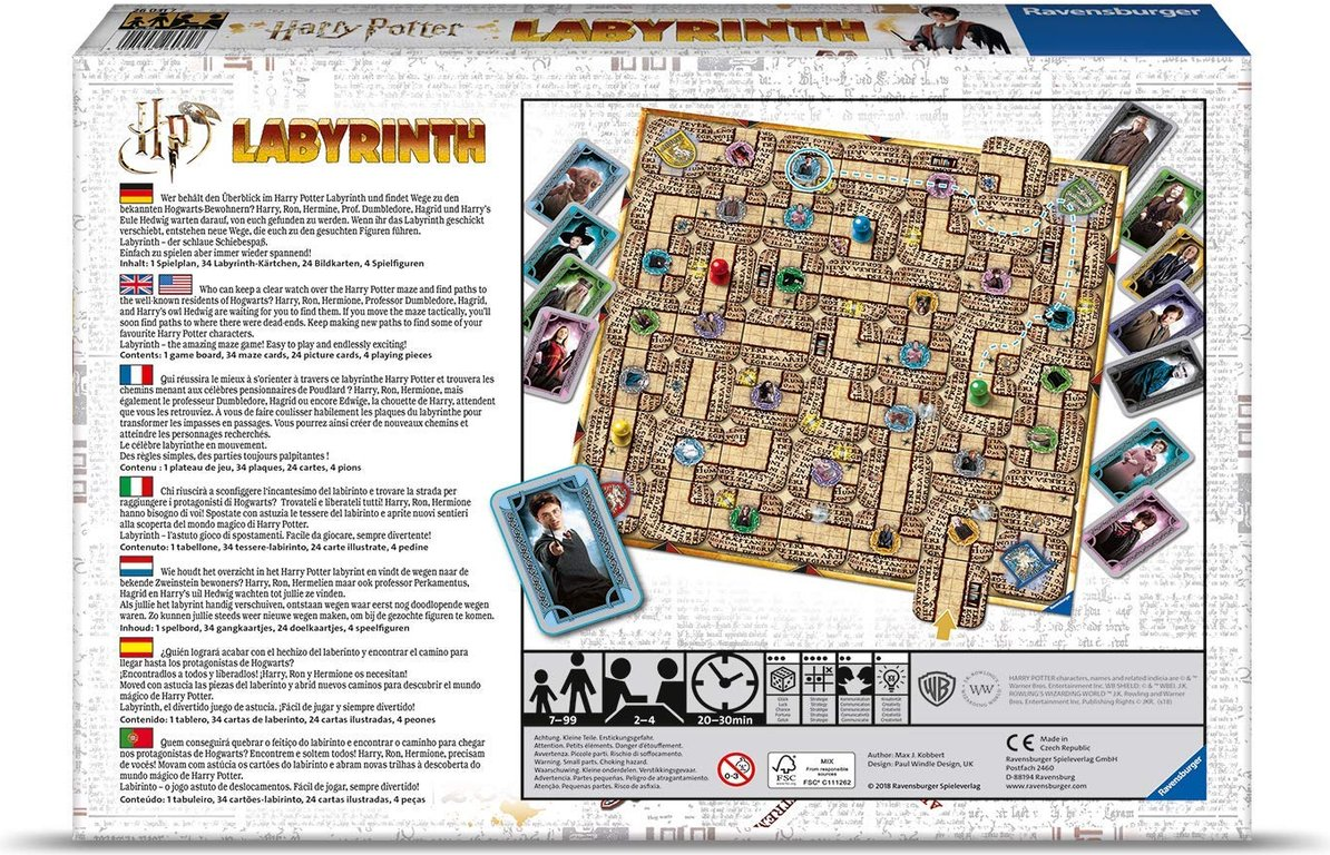 Harry Potter Labyrinth back of the box