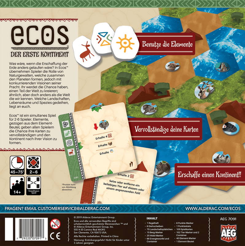 Ecos: First Continent back of the box