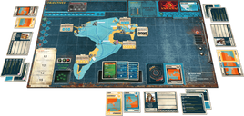 Pandemic Legacy: Season 2 - Black Edition components