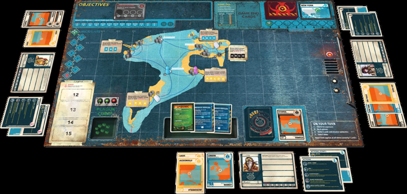 Pandemic Legacy: Season 2 - Black Edition components