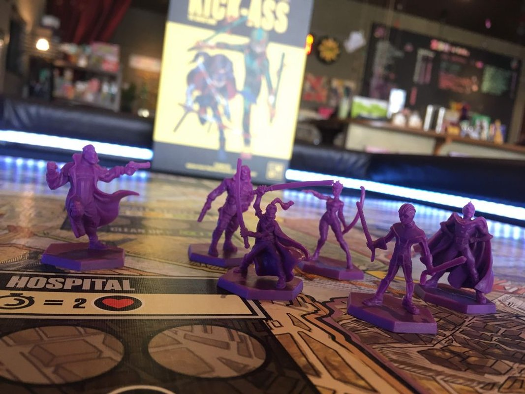 Kick-Ass: The Board Game miniatures