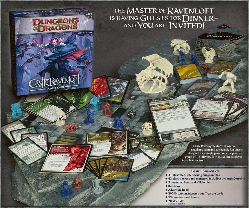 Castle Ravenloft: A Dungeons and Dragons Boardgame composants