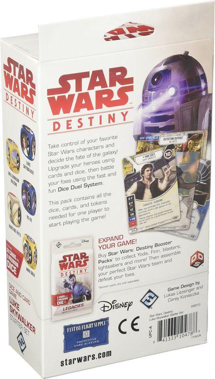 Star Wars: Destiny - Luke Skywalker Starter Set back of the box