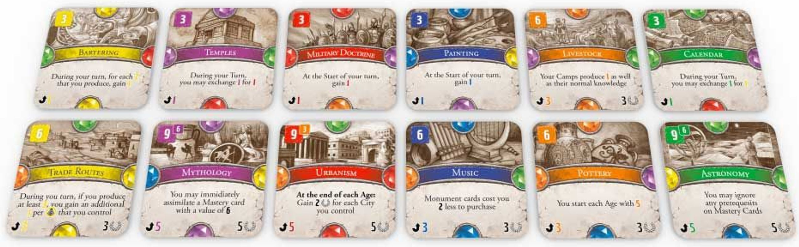Dominations: Road to Civilization cards