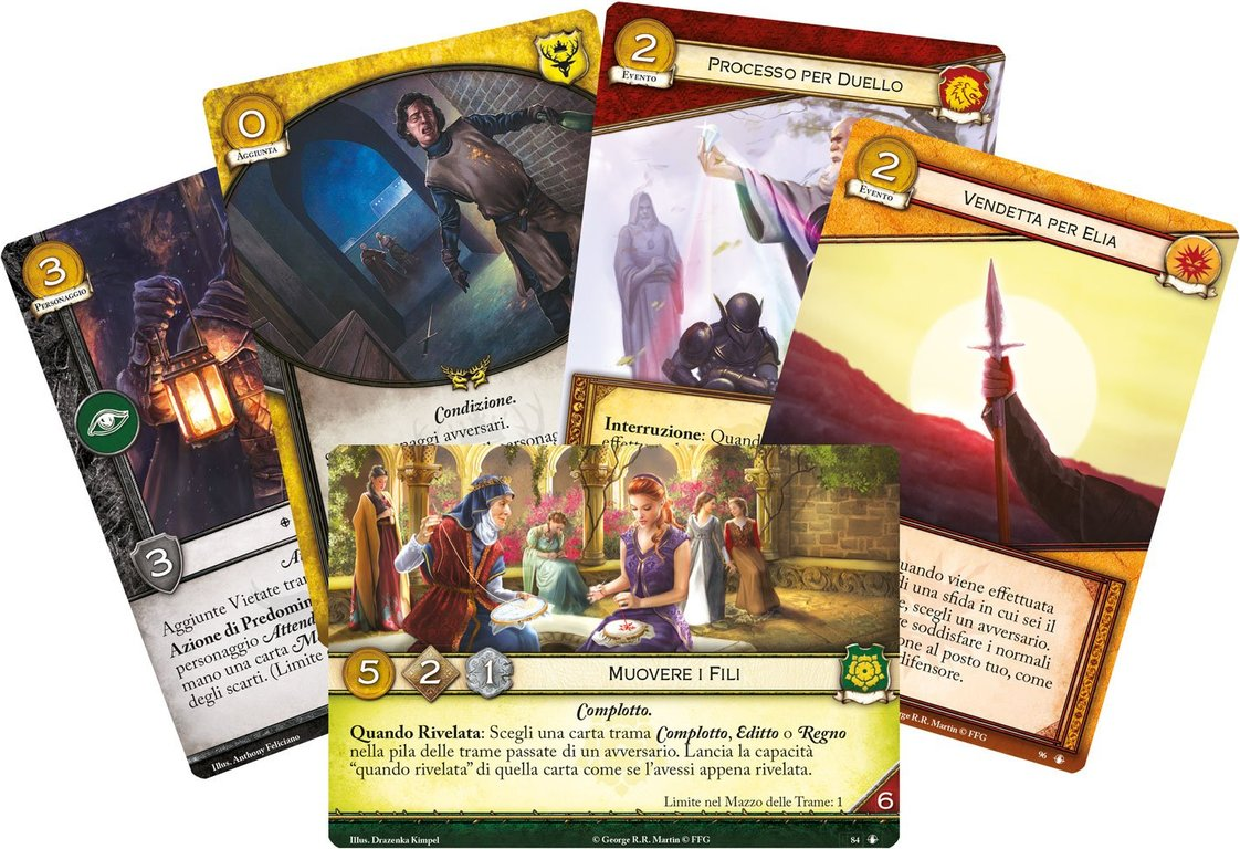 A Game of Thrones: The Card Game (Second Edition) - Calm over Westeros cards