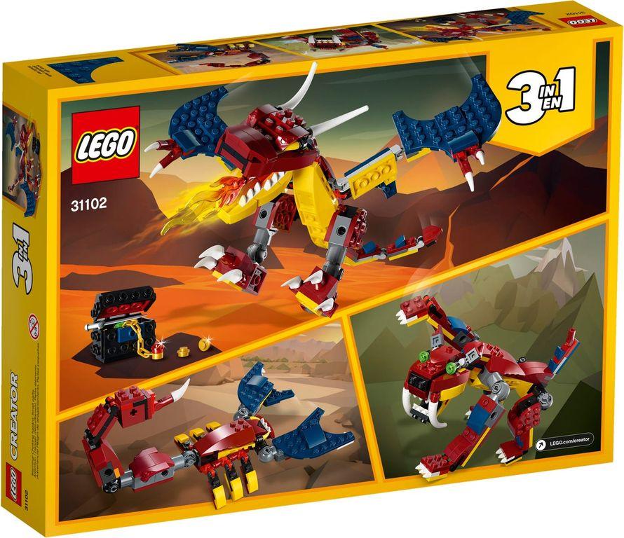 LEGO® Creator Fire Dragon back of the box