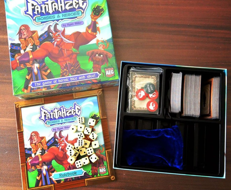 Fantahzee: Hordes & Heroes components