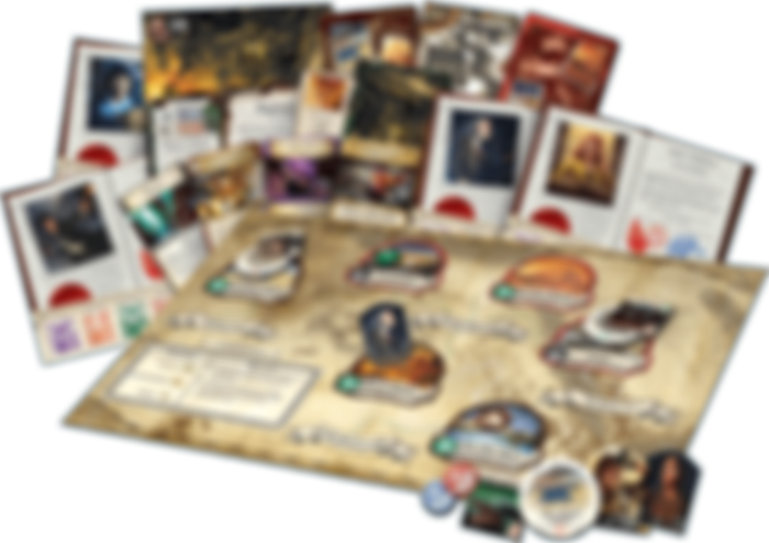 Eldritch Horror: Under the Pyramids components