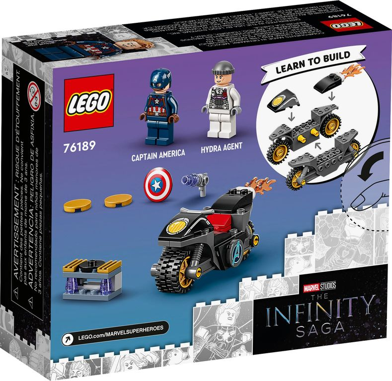 LEGO® Marvel Captain America and Hydra Face-Off back of the box