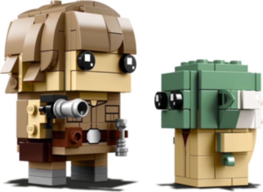 LEGO® BrickHeadz™ Luke Skywalker™ & Yoda™ components