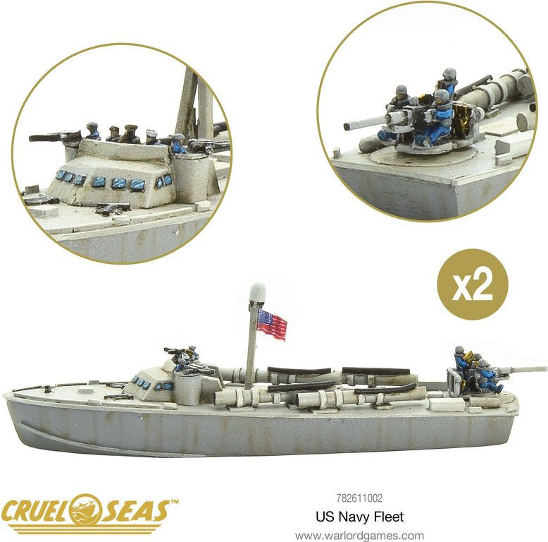 Cruel Seas: US Navy Fleet miniatures