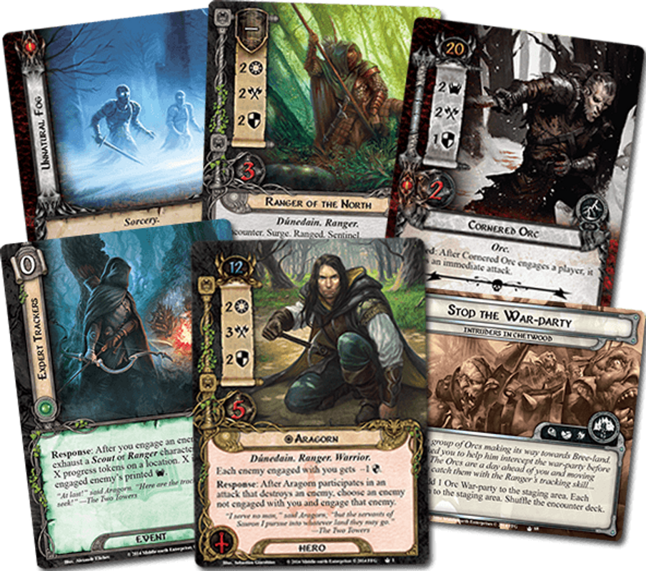 The Lord of the Rings: The Card Game - The Lost Realm cards