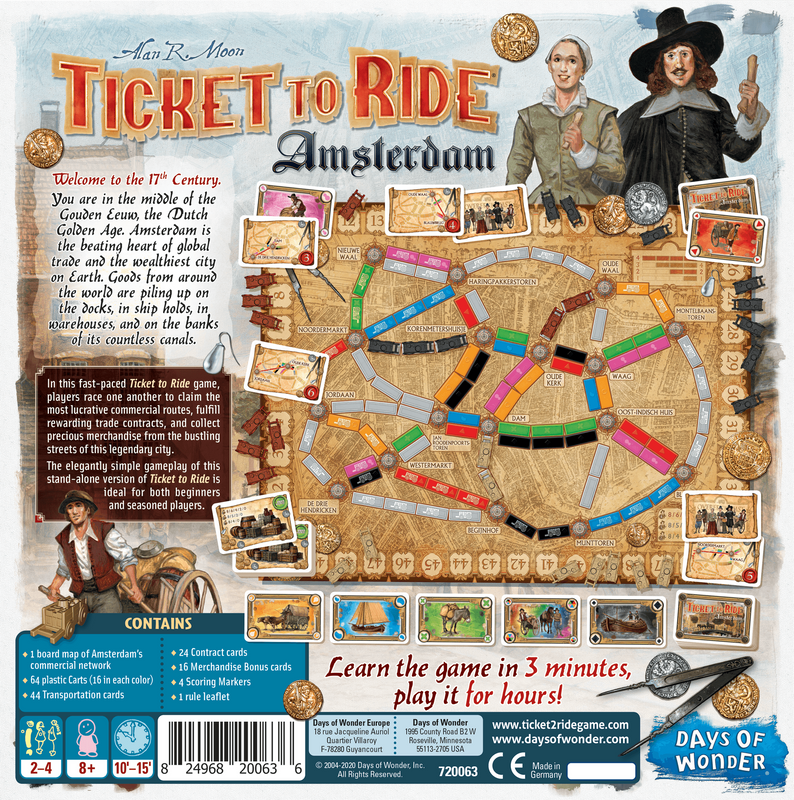 Ticket to Ride: Amsterdam back of the box