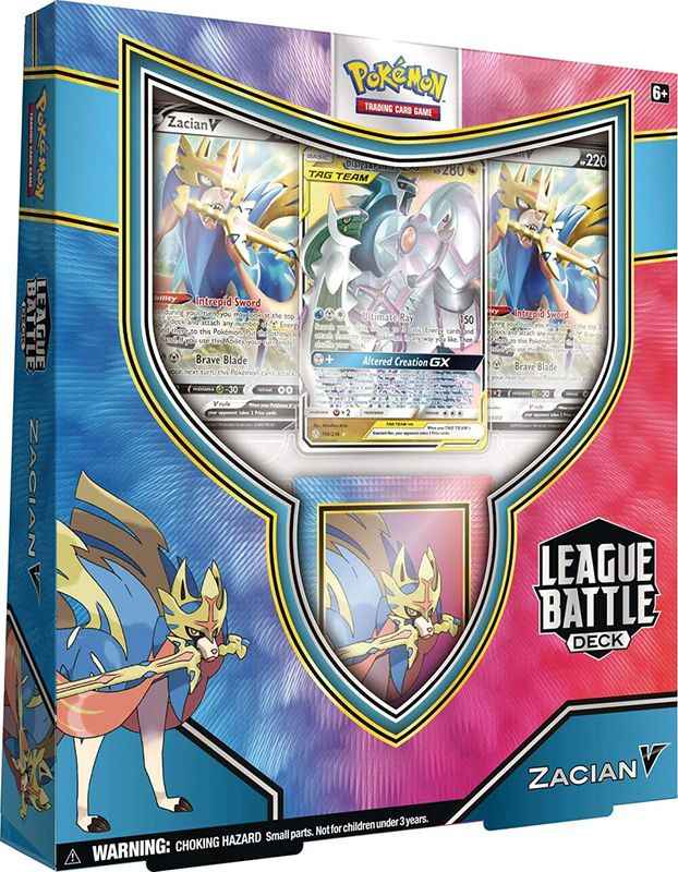 Pokémon TCG: Zacian V League Battle Deck box