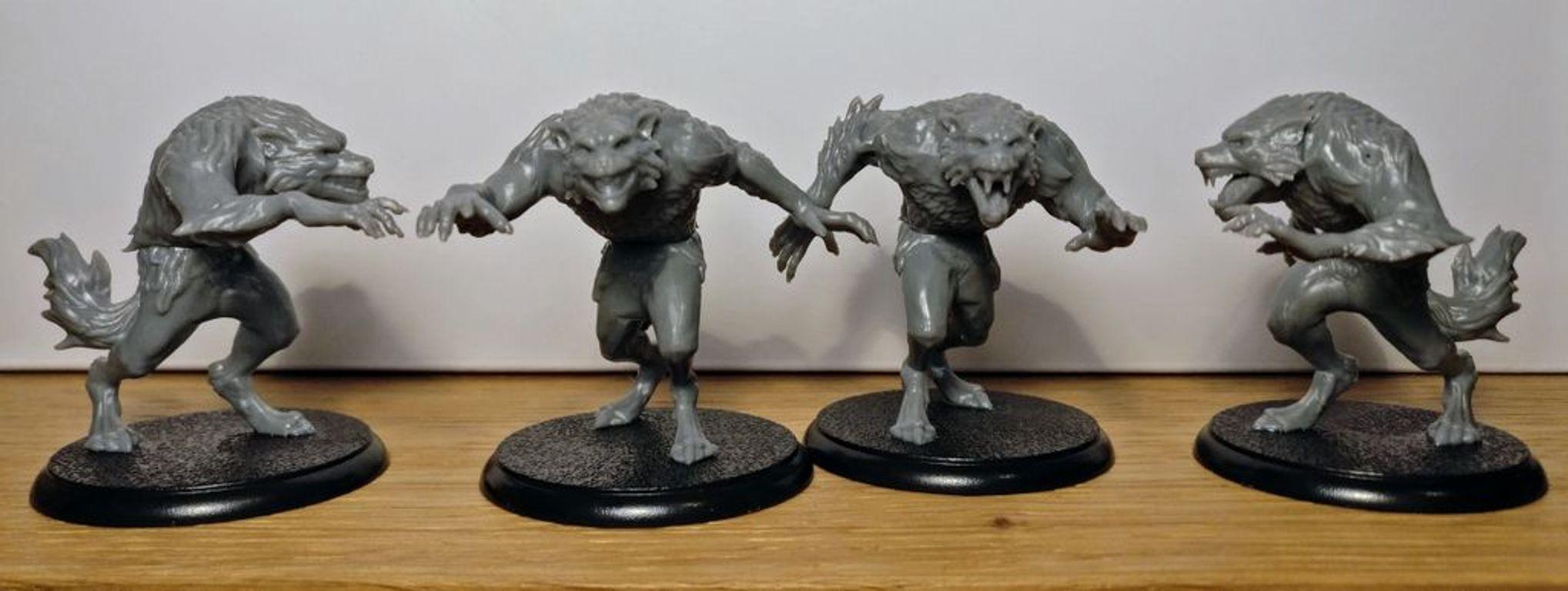 Shadows of Brimstone: Werewolf Feral Kin Mission Pack miniaturas