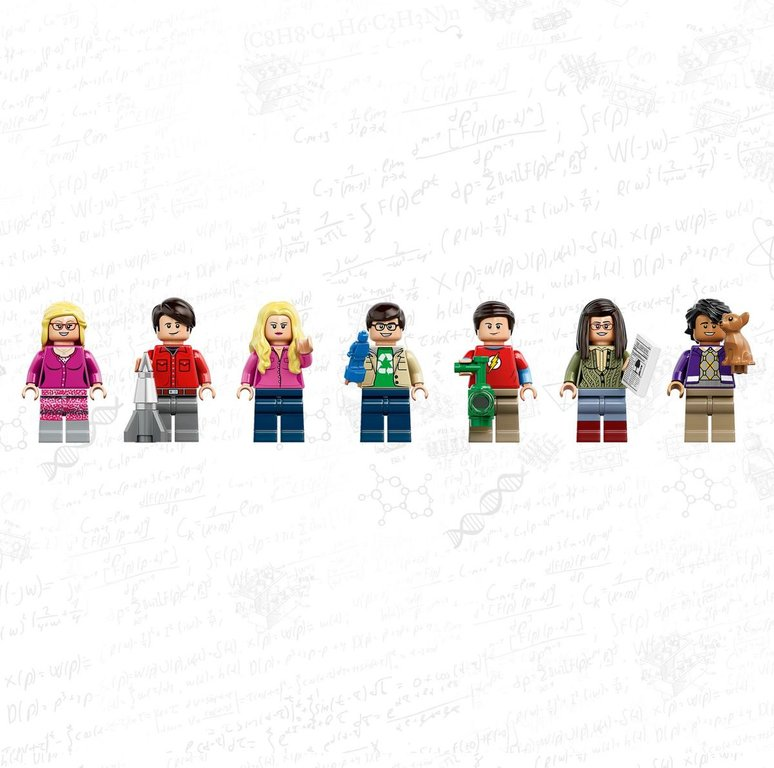 LEGO® Ideas The Big Bang Theory minifigures