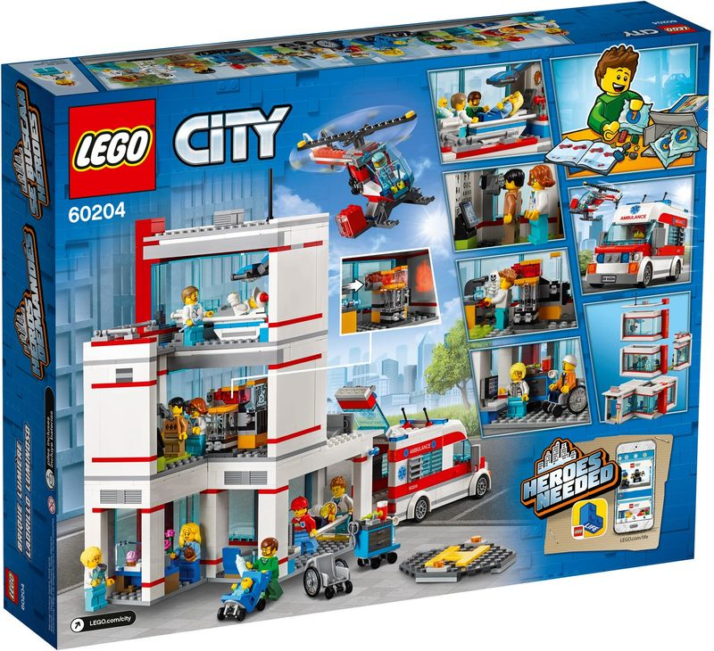 LEGO® City Hospital back of the box