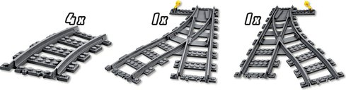 LEGO® City Switch Tracks components