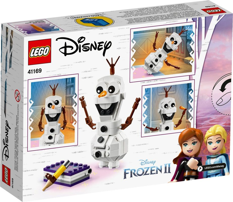 Olaf back of the box