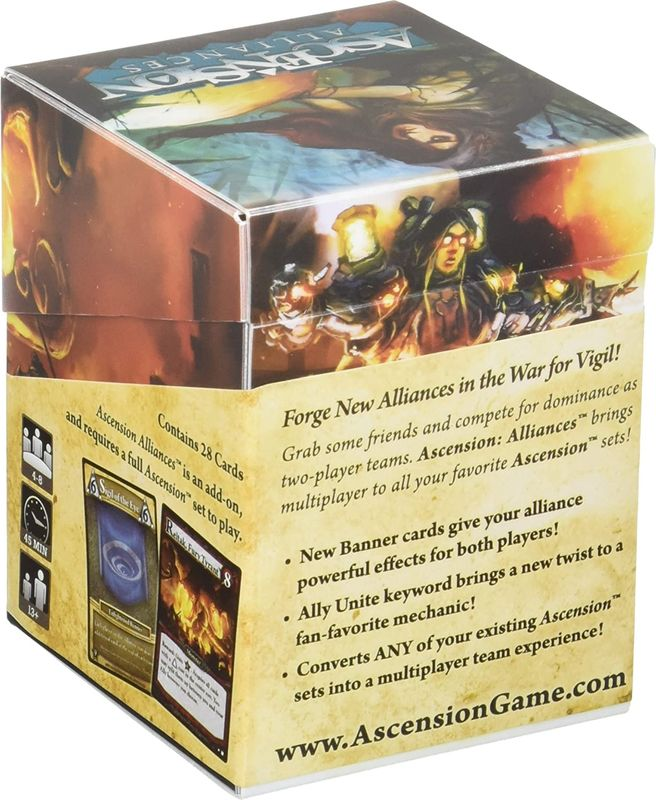 Ascension: Alliances back of the box