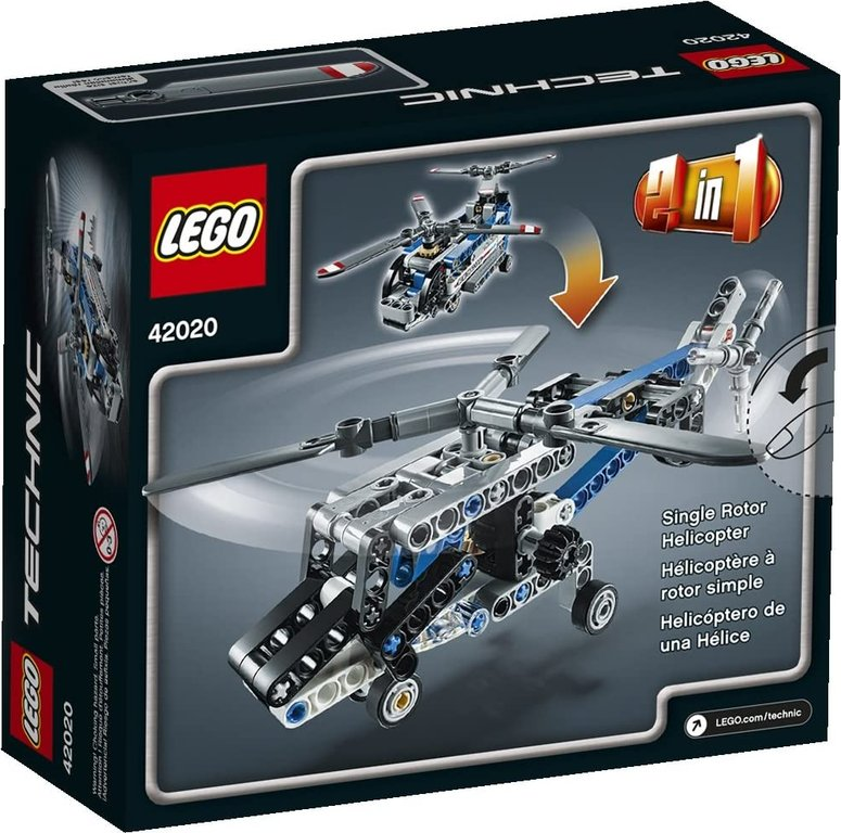 LEGO® Technic Twin-Rotor Helicopter back of the box