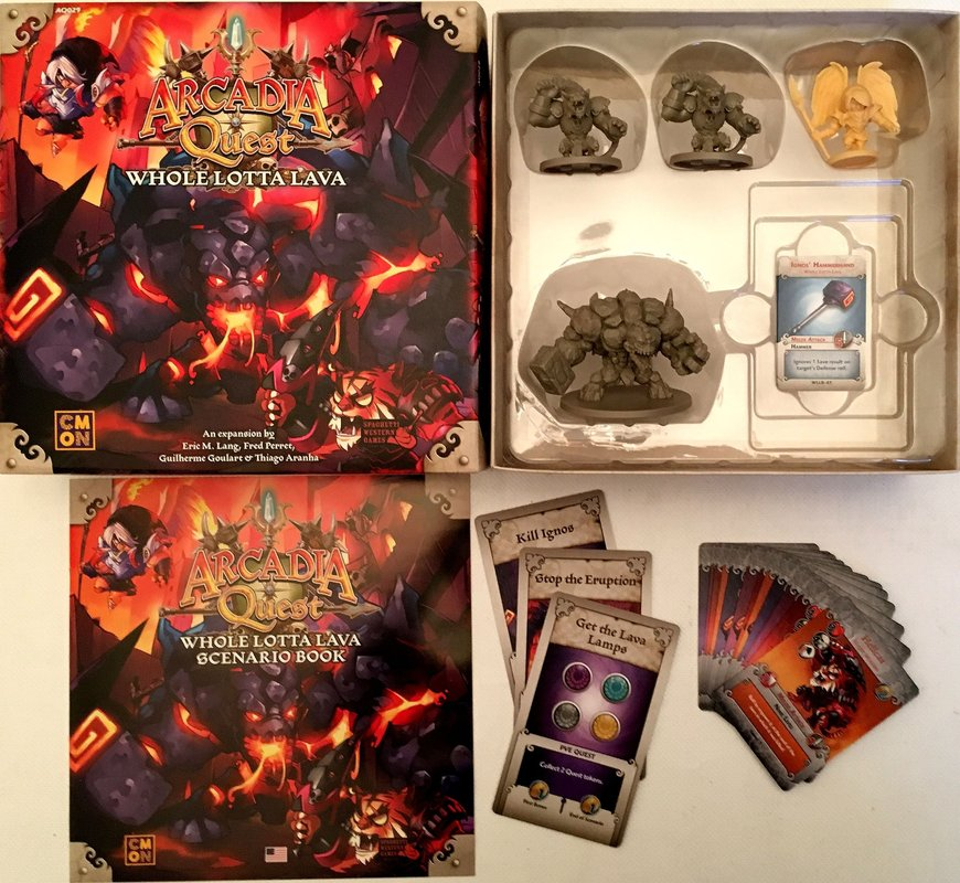 Arcadia Quest: Inferno - Whole Lotta Lava components