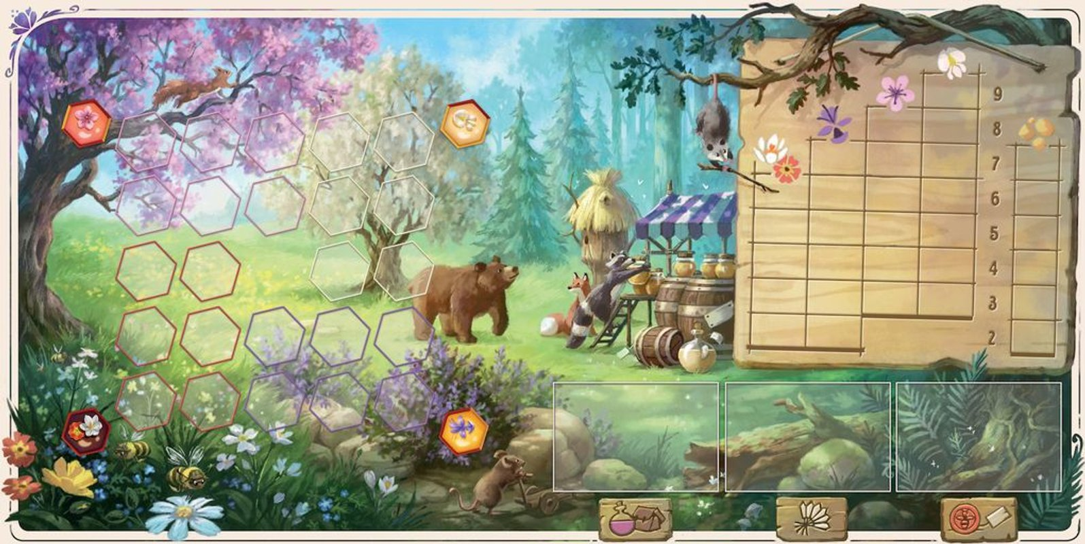 Honey Buzz game board