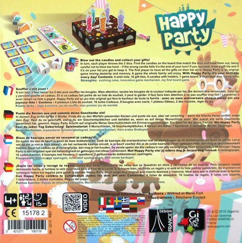 Happy Party back of the box