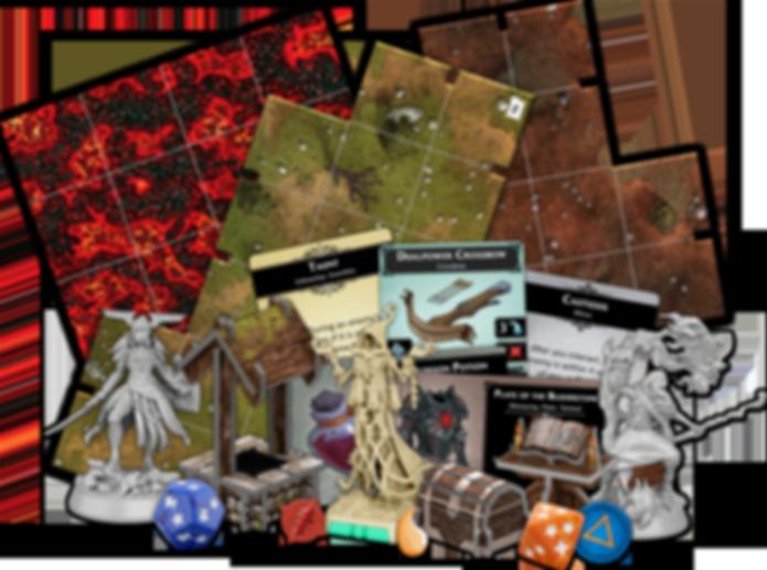 Descent: Legends of the Dark components