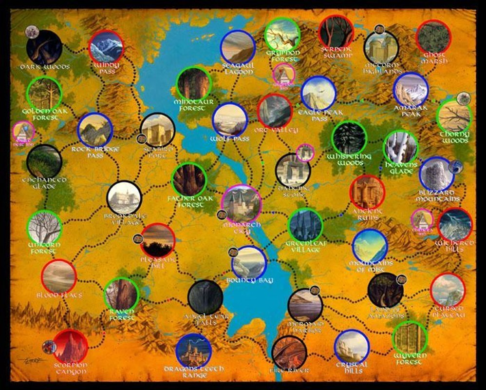 Defenders of the Realm game board
