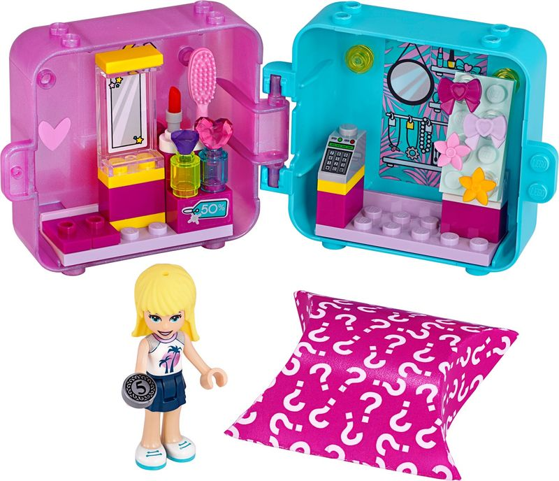 LEGO® Friends Stephanie's Shopping Play Cube components