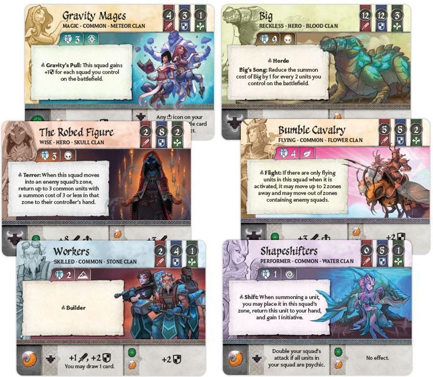 Crystal Clans components